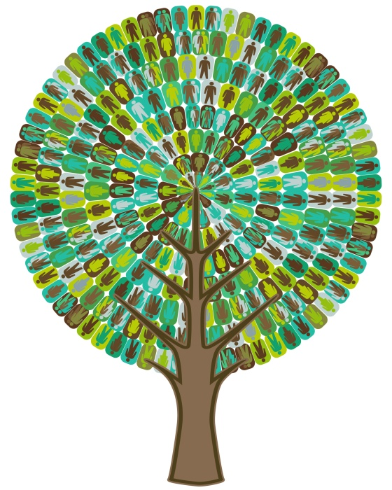 Tree of sociology - people icon